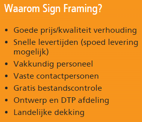 Signframing - bouwbord